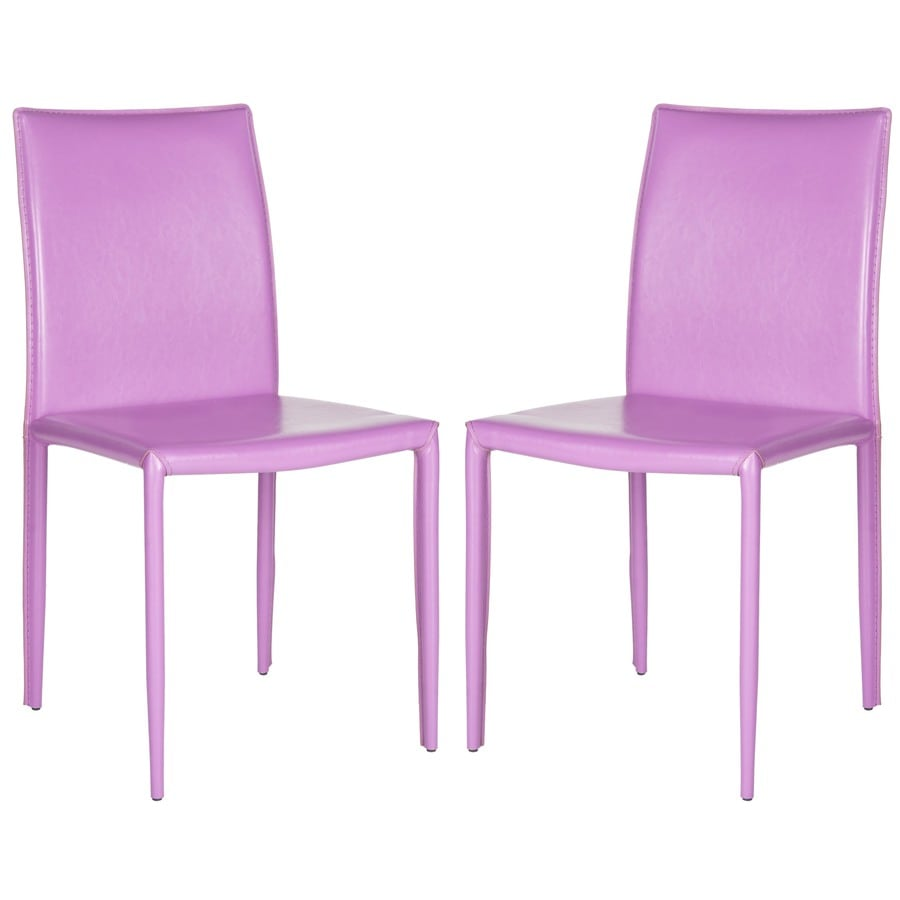 Safavieh Set of 2 Karna Purple Side Chair