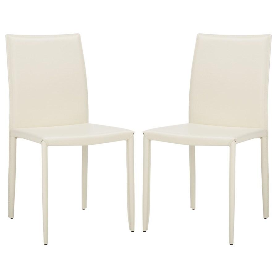 Safavieh Set of 2 Fox White Croc Side Chairs