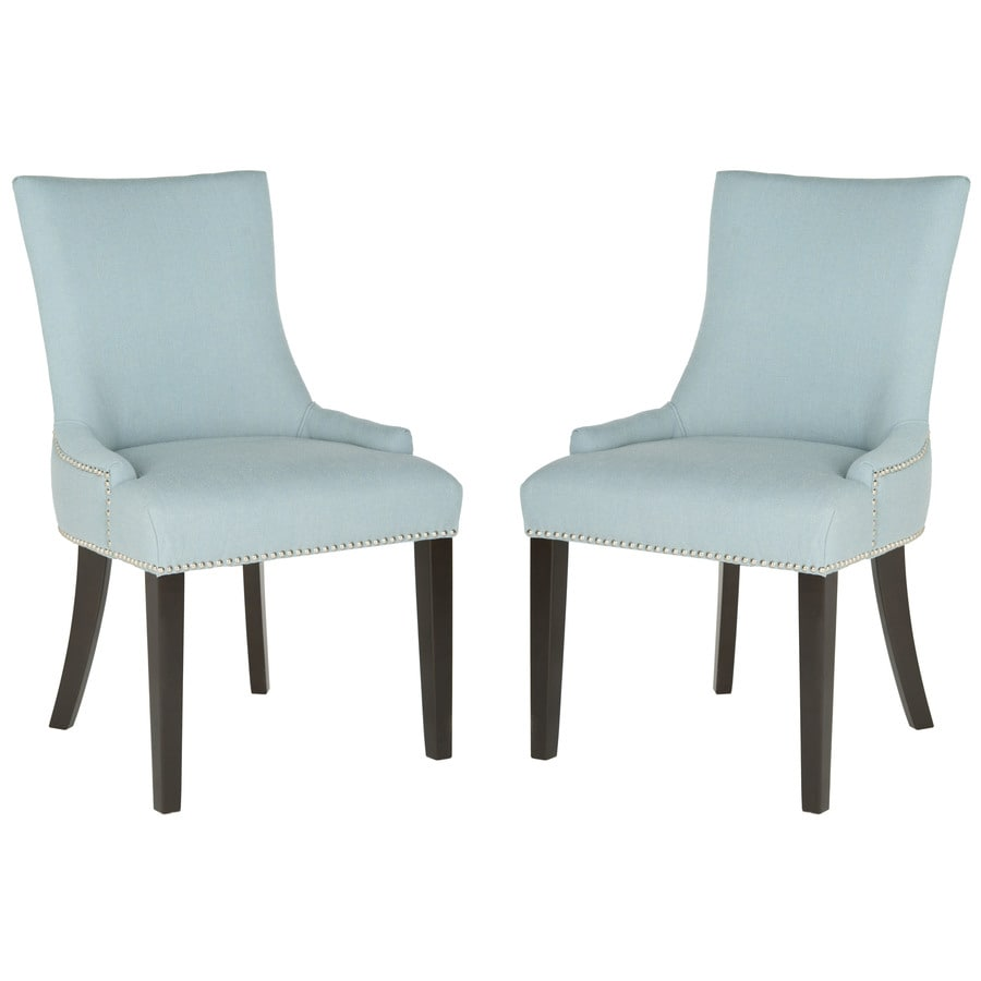 Safavieh Set of 2 Mercer Sky Blue Side Chairs