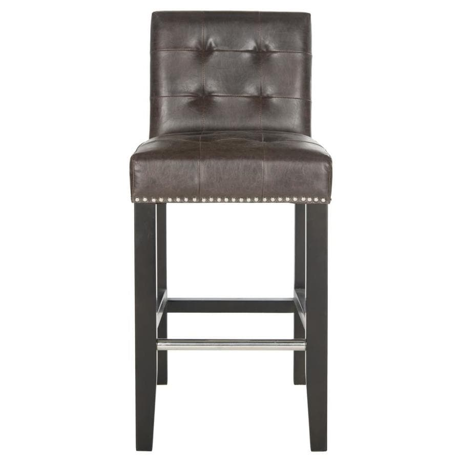 Safavieh Mercer Antique Brown 25.8-in Counter Stool (22-in to 26-in)