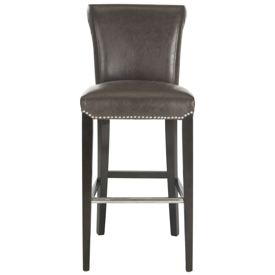 Safavieh Seth Bar Stool Modern Antique Brown Bar Stool