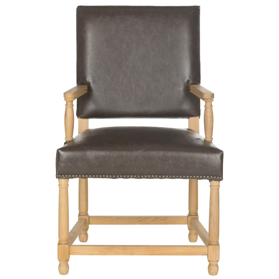 Safavieh Faxon Rustic Brown Linen Accent Chair