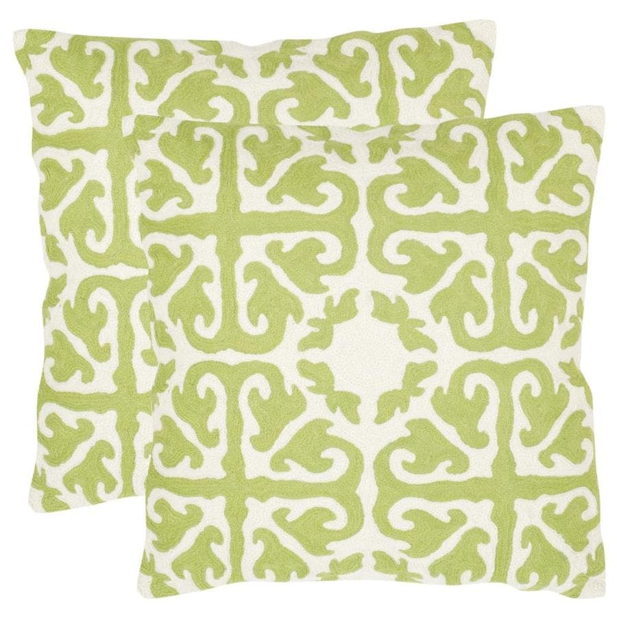 Safavieh Moroccan 2-Piece 22-in W x 22-in L Lime/Green Indoor Decorative Pillow