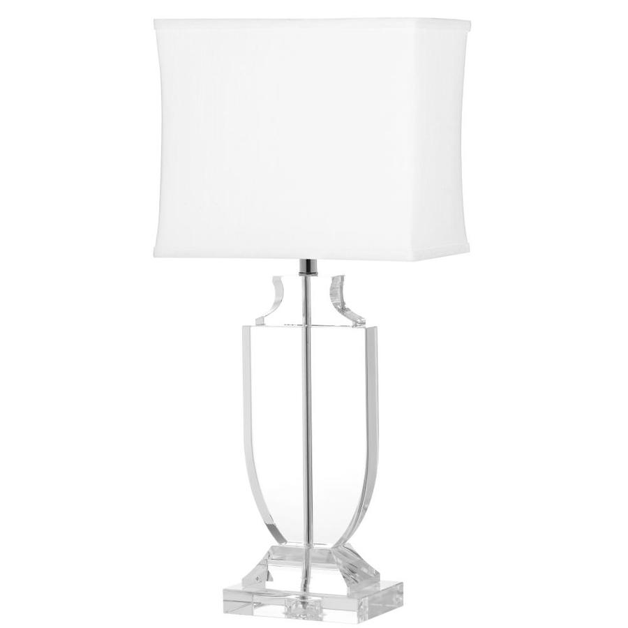 Safavieh Deirdre 28-in Clear Rotary Socket Table Lamp with Fabric Shade