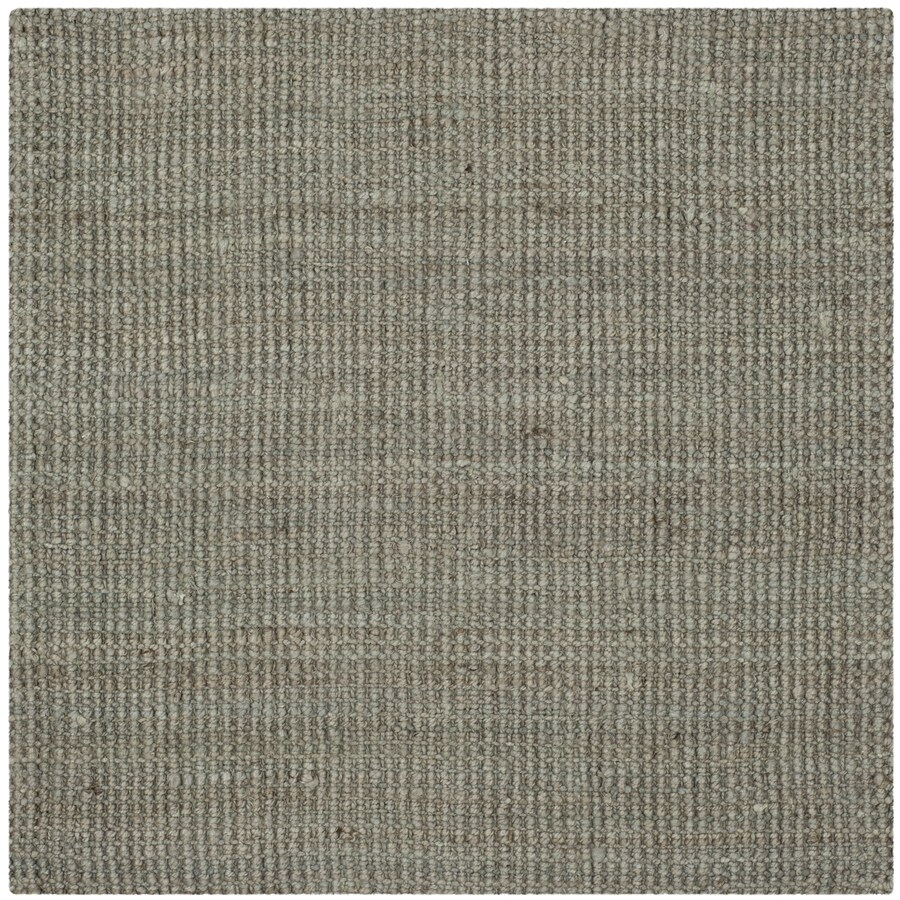 Safavieh Natural Fiber Saintes Gray Square Indoor Handcrafted Coastal Area Rug (Common: 5 x 5; Actual: 5-ft W x 5-ft L)