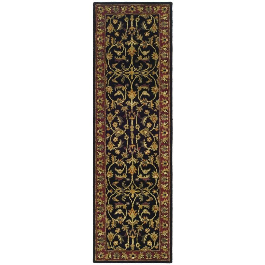 Safavieh Heritage Shiras Black/Red Indoor Handcrafted Oriental Runner (Common: 2 x 22; Actual: 2.25-ft W x 22-ft L)