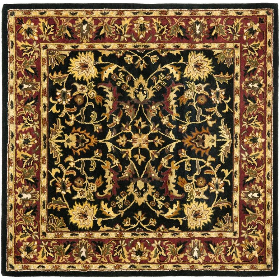 Safavieh Heritage Shiras Black/Red Square Indoor Handcrafted Oriental Area Rug (Common: 10 x 10; Actual: 10-ft W x 10-ft L)