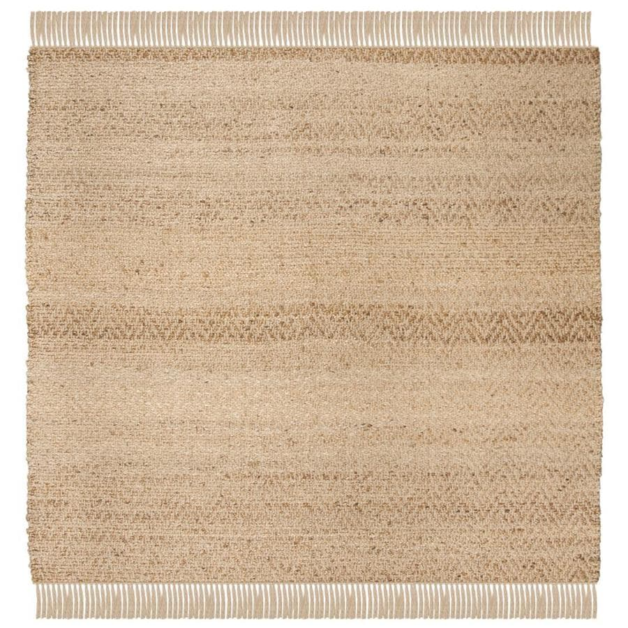 Safavieh Natural Fiber Lucia Square Indoor Handcrafted Coastal Area Rug Common 4 X