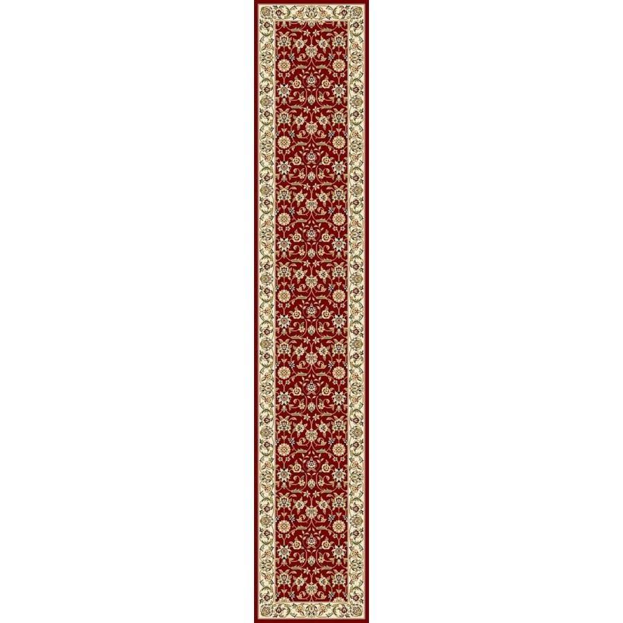 Safavieh Lyndhurst Qum Red/Ivory Rectangular Indoor Machine-made Oriental Runner (Common: 2 x 20; Actual: 2.25-ft W x 20-ft L)