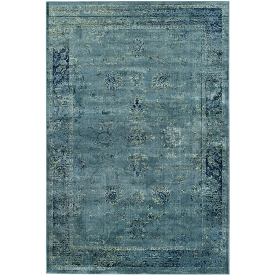 Safavieh Vintage Mosed Turquoise Indoor Distressed Area Rug (Common: 5 x 8; Actual: 5.25-ft W x 7.5-ft L)