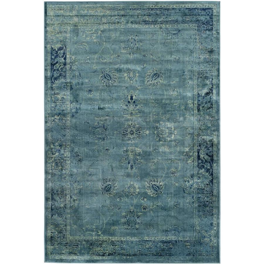 Safavieh Vintage Turquoise And Multi Colored Area Rug: Shop Safavieh Vintage Mosed Turquoise Indoor Distressed