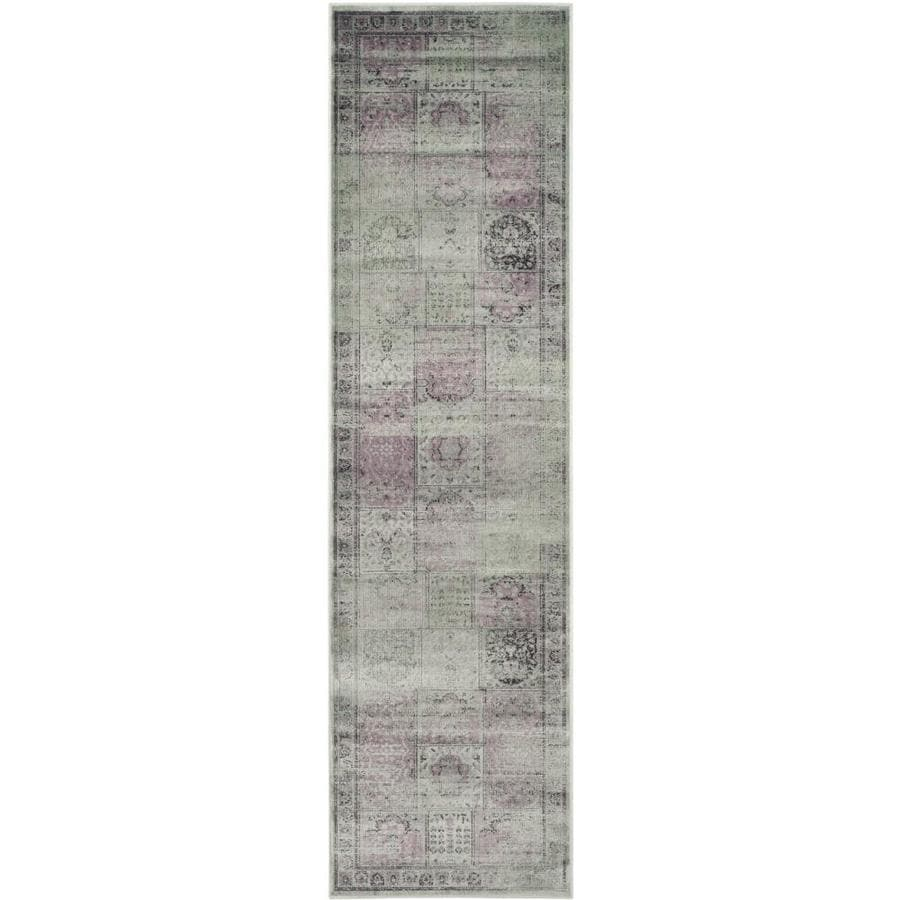Safavieh Vintage Amethyst Rectangular Indoor Machine-Made Distressed Runner (Common: 2 x 8; Actual: 2.167-ft W x 8-ft L x 0-ft Dia)