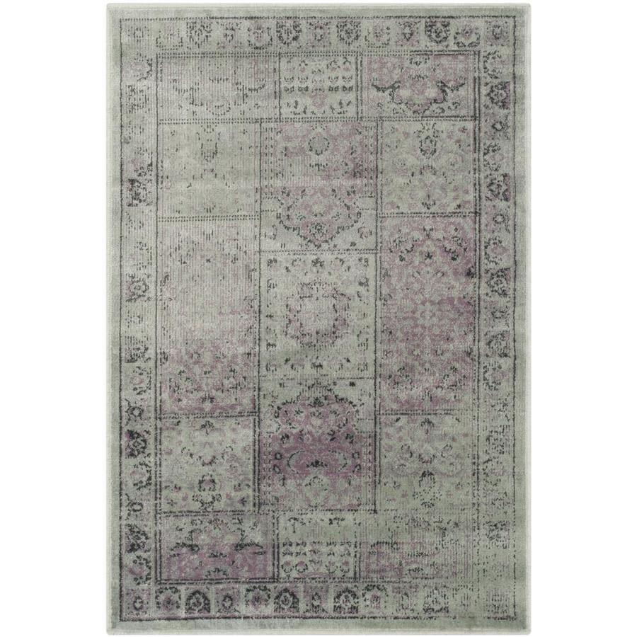 Safavieh Vintage Baktiari Amethyst Indoor Distressed Throw Rug (Common: 3 x 5; Actual: 3.25-ft W x 5.6-ft L)