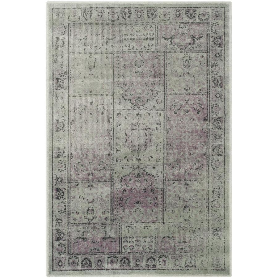 Safavieh Vintage Baktiari Amethyst Rectangular Indoor Machine-made Distressed Area Rug (Common: 4 x 6; Actual: 4-ft W x 5.6-ft L)