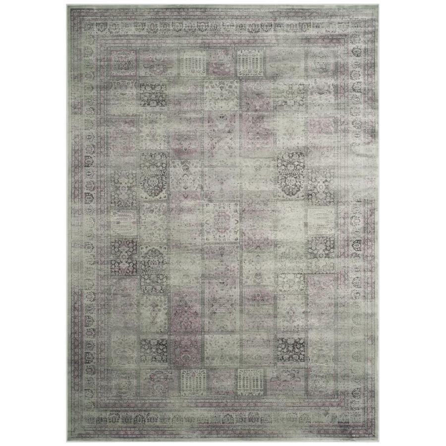 Safavieh Vintage Amethyst Rectangular Indoor Machine-Made Distressed Area Rug (Common: 6 x 9; Actual: 6.583-ft W x 9.167-ft L)