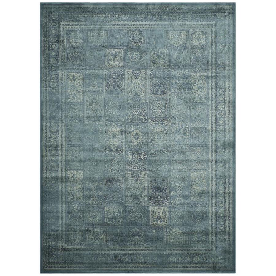 Safavieh Vintage Baktiari Turquoise/Multi Rectangular Indoor Machine-made Distressed Area Rug (Common: 6 x 9; Actual: 6.6-ft W x 9.2-ft L)