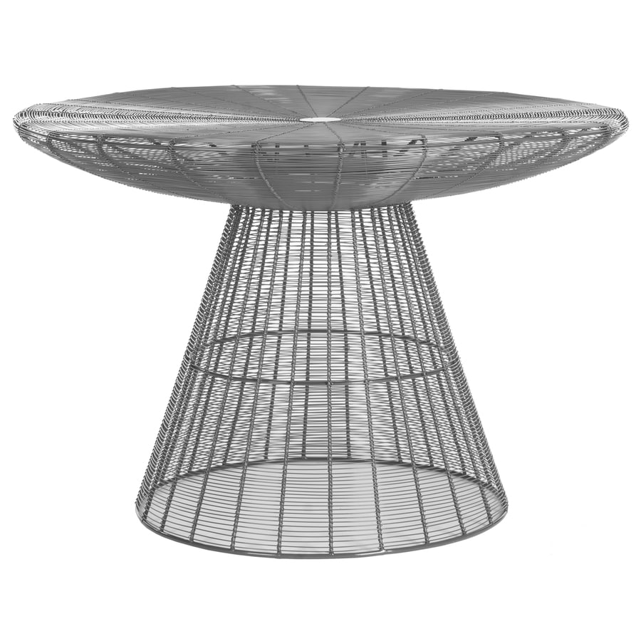 Safavieh Reginald Gray Metal Round Coffee Table