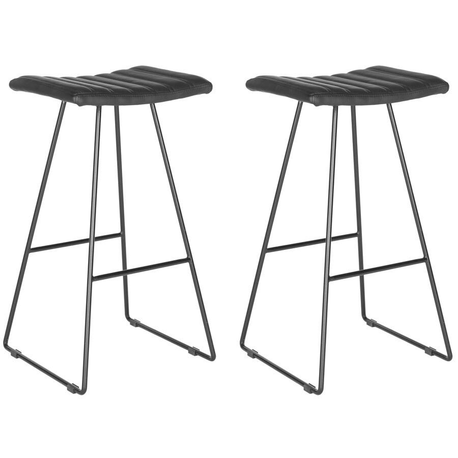 Safavieh Akito Set of 2 Modern Black Bar Stools