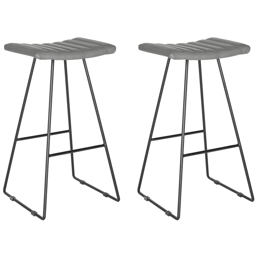 Shop Safavieh Akito Set of 2 Modern Gray Bar Stools at  : 683726693383 from www.lowes.com size 900 x 900 jpeg 65kB