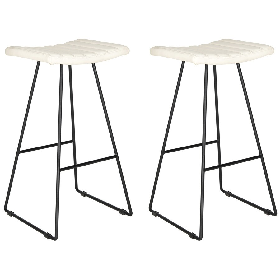Safavieh Set of 2 Fox Cream 30.7-in Bar Stools (27-in to 35-in)