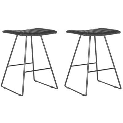Pleasant Safavieh Akito Set Of 2 Black Counter Stool At Lowes Com Cjindustries Chair Design For Home Cjindustriesco