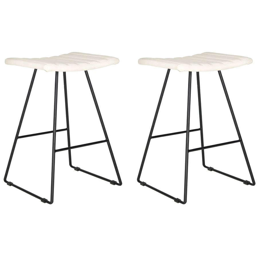 Safavieh Akito Set of 2 Modern Cream Counter Stool