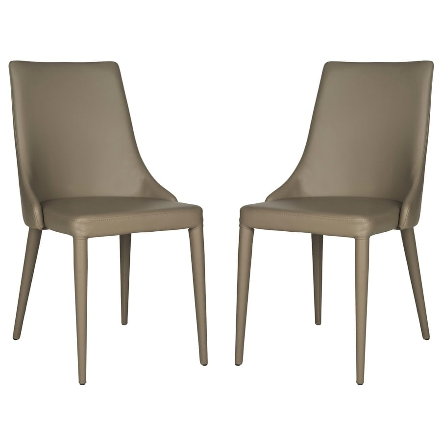 Safavieh Set Of 2 Summerset Contemporary Brown Side Chairs