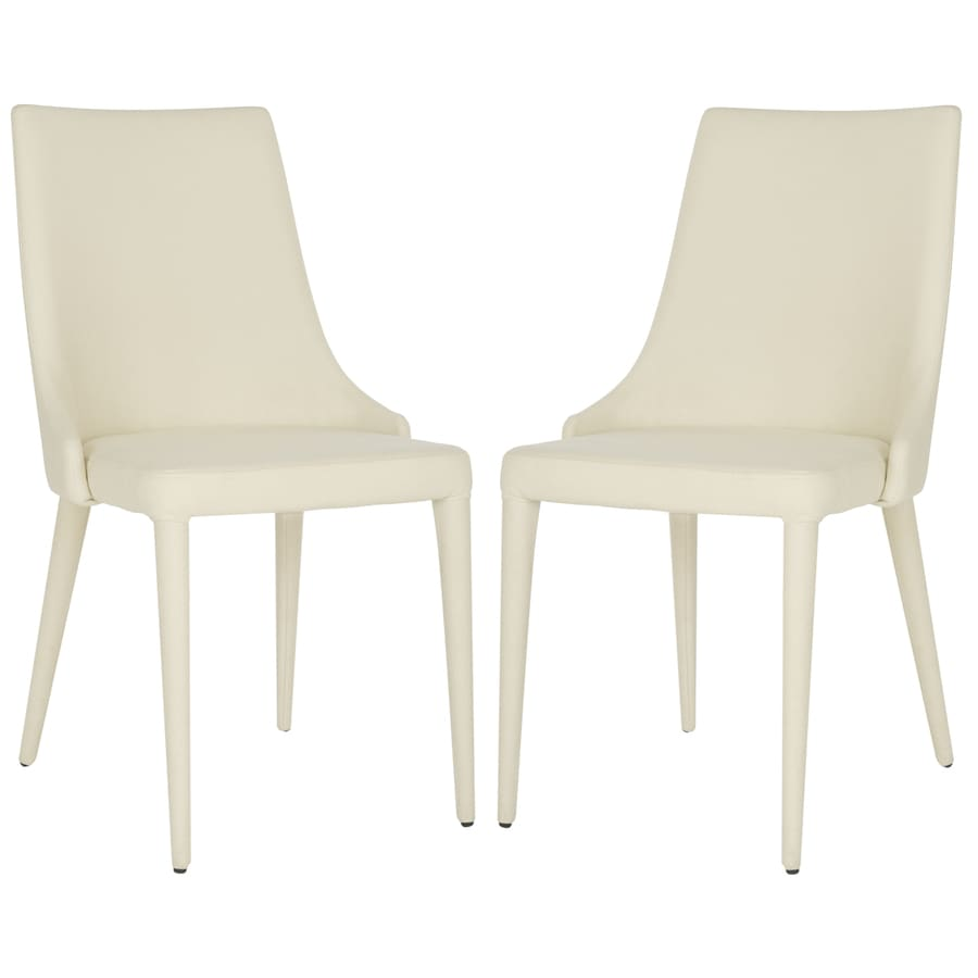 Safavieh Set of 2 Summerset Contemporary Off-White Side Chairs