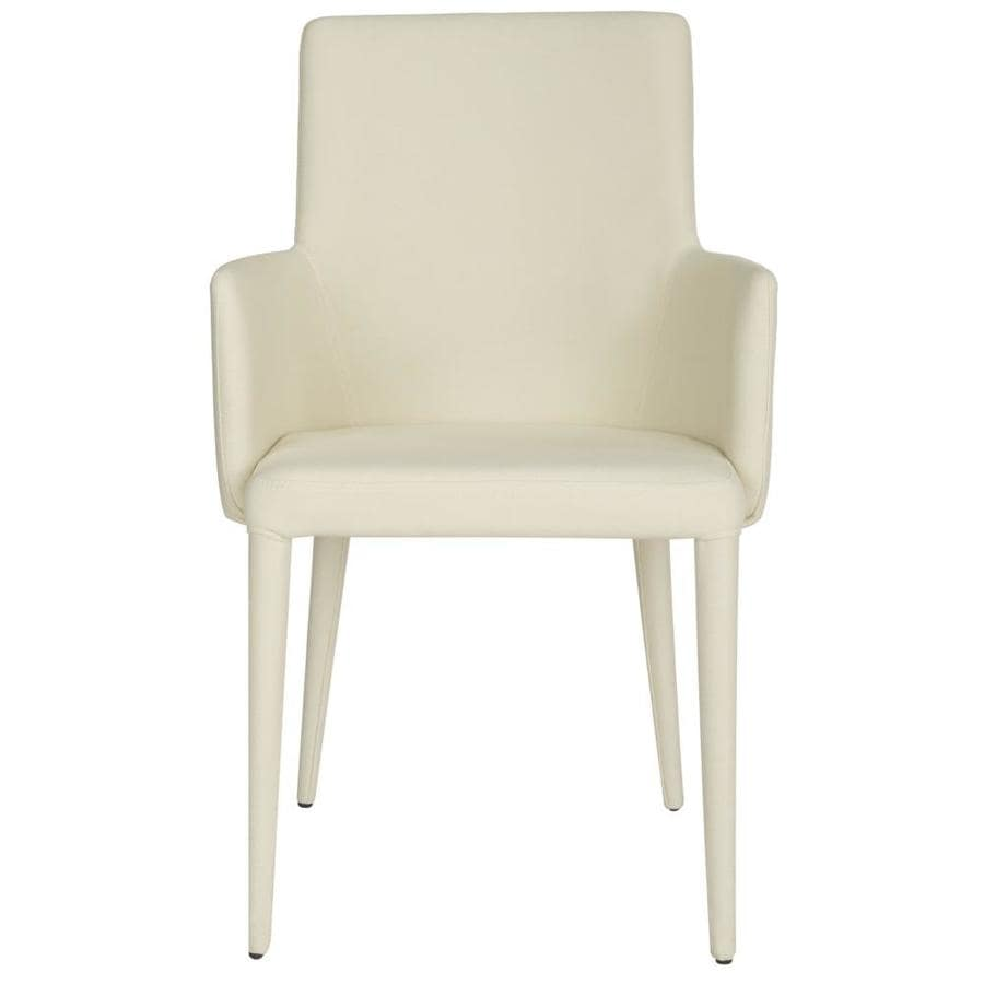 Safavieh Summerset Casual Beige Faux Leather Accent Chair