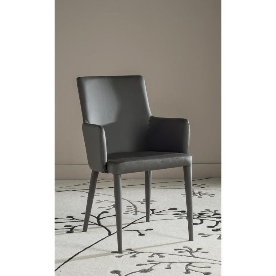 Safavieh Summerset Casual Gray Faux Leather Accent Chair