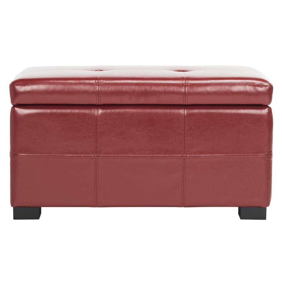 Safavieh Maiden Small Transitional Red Storage Bench
