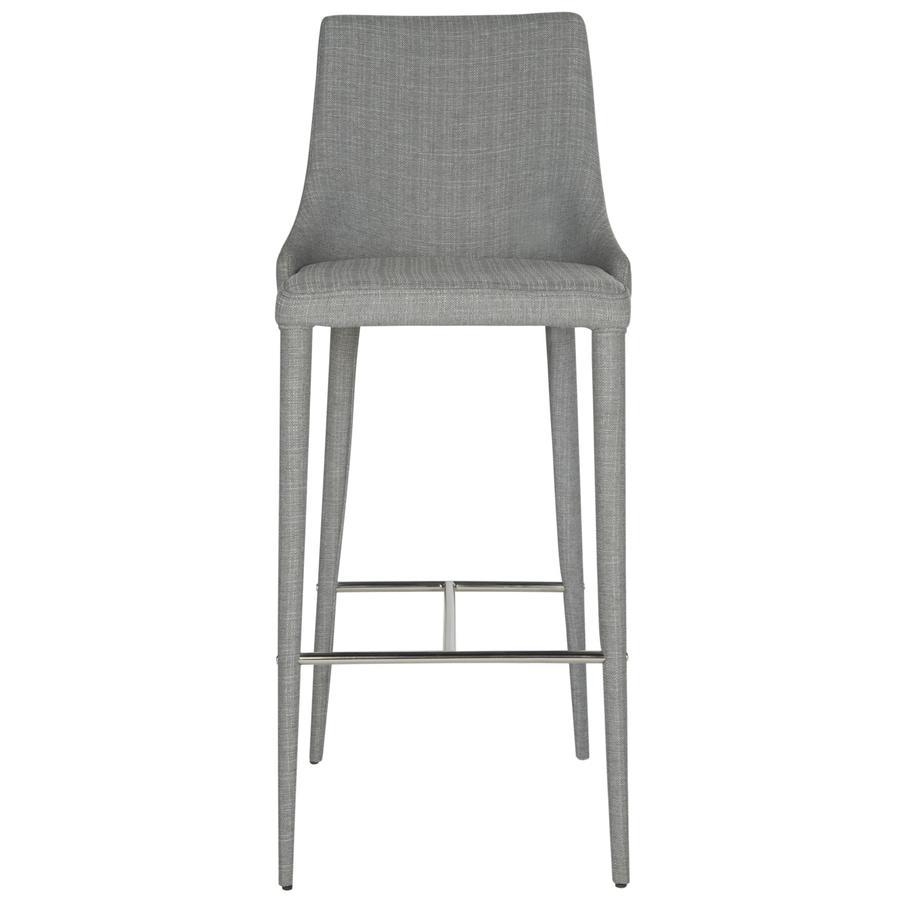 Shop Safavieh Summerset Modern Gray Linen Bar Stool at  : 683726694731 from www.lowes.com size 900 x 900 jpeg 166kB