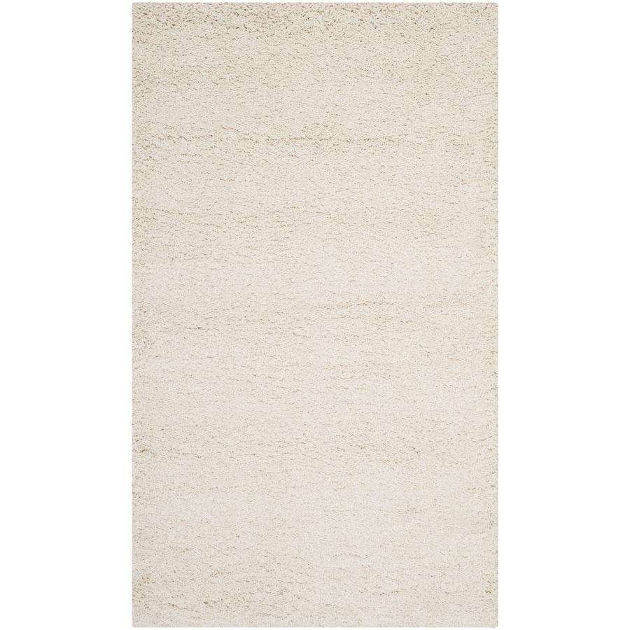 Safavieh Milan Shag Ivory Rectangular Indoor Throw Rug (Common: 3 x 5; Actual: 3-ft W x 5-ft L)