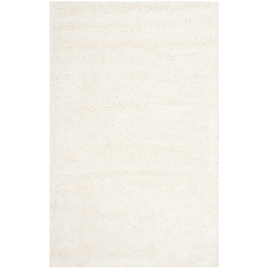 Safavieh Milan Shag Ivory Rectangular Indoor Area Rug (Common: 9 x 12; Actual: 8.5-ft W x 12-ft L)