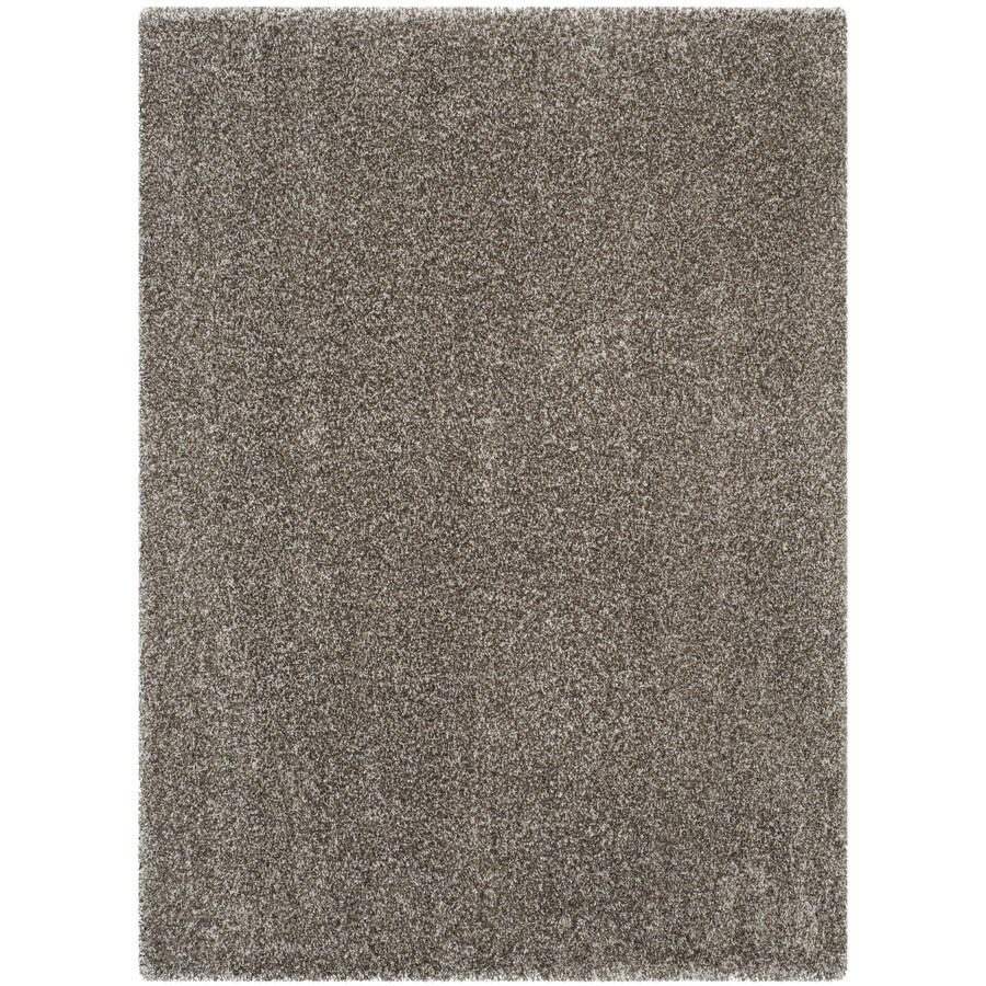 shop safavieh milan shag gray indoor area rug common 9 x 12 actual 8 5 ft w x 12 ft l at. Black Bedroom Furniture Sets. Home Design Ideas
