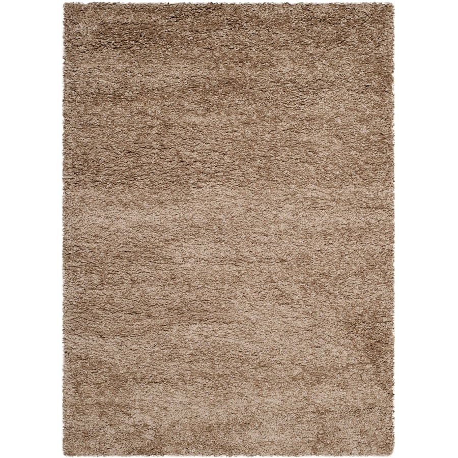 Shop Safavieh Milan Shag Dark Beige Indoor Area Rug