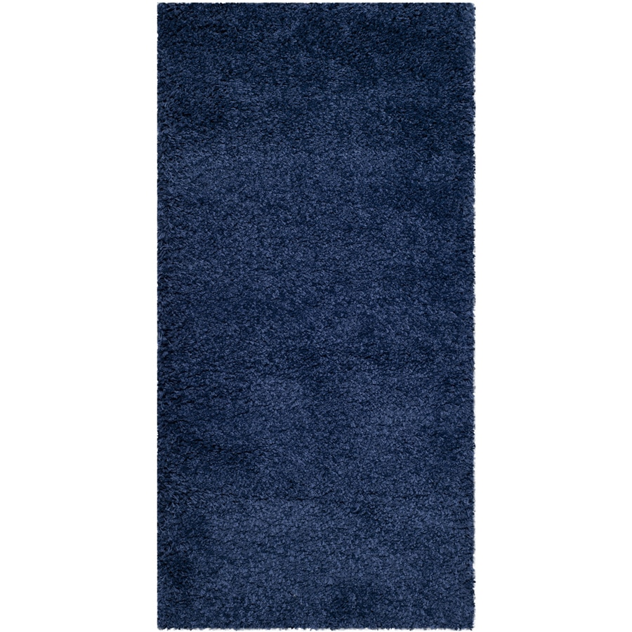 Safavieh Milan Shag Navy Rectangular Indoor Throw Rug (Common: 2 x 4; Actual: 2-ft W x 4-ft L)