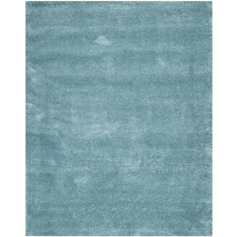 Safavieh Milan Shag Aqua Blue Rectangular Indoor Area Rug (Common: 5 x 8; Actual: 5.1-ft W x 8-ft L)