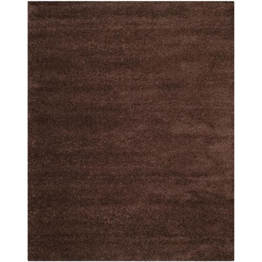 Safavieh Milan Shag Brown Rectangular Indoor Area Rug (Common: 9 x 12; Actual: 8.5-ft W x 12-ft L)