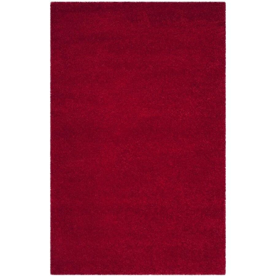 Safavieh Milan Shag Red Rectangular Indoor Area Rug (Common: 5 x 8; Actual: 5.1-ft W x 8-ft L)