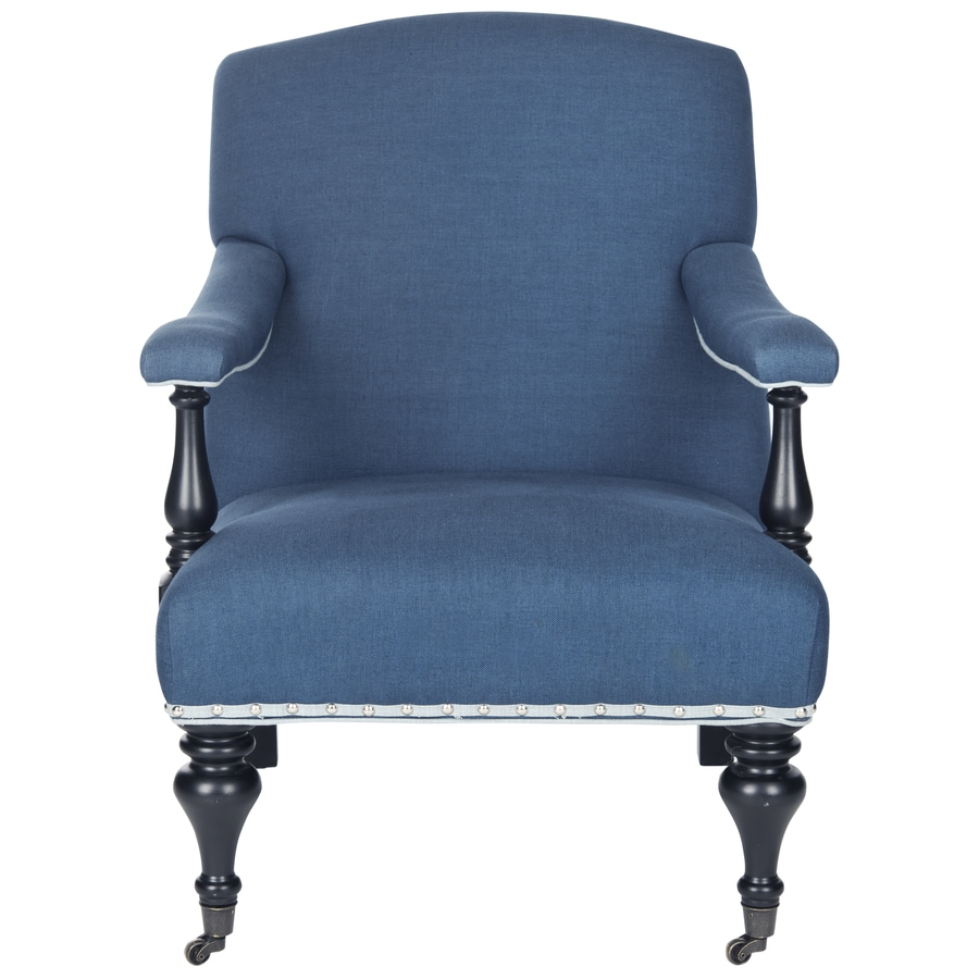 Safavieh Devona Casual Steel Blue Accent Chair