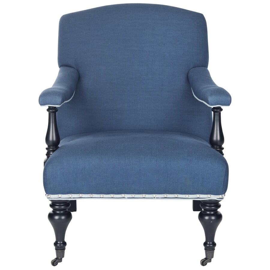 Safavieh Devona Casual Steel Blue Viscose Accent Chair