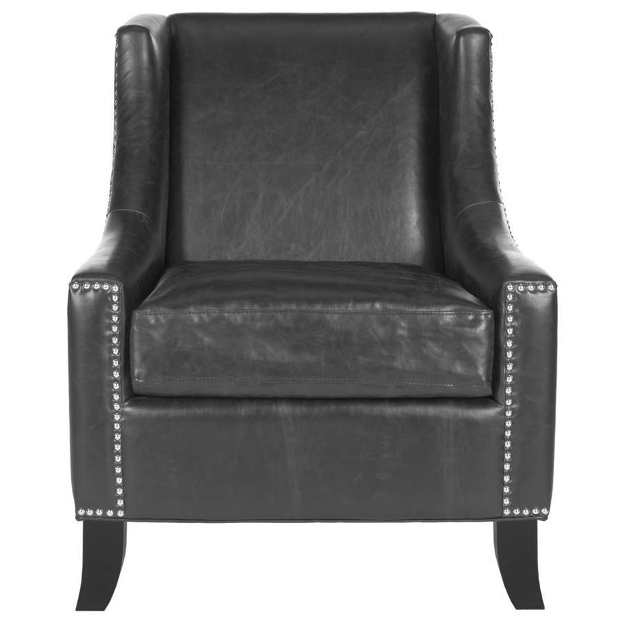 Safavieh Daniel Casual Black Faux Leather Accent Chair