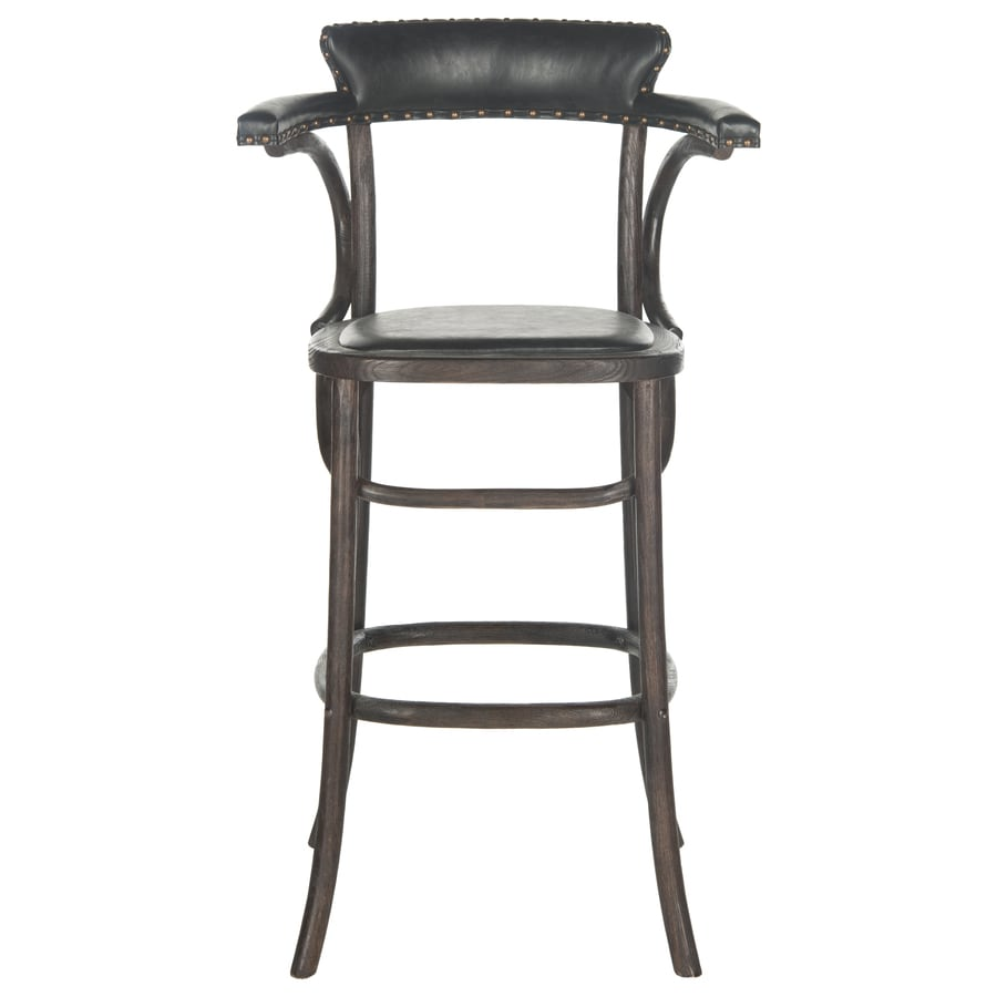 antique counter stools shop safavieh kenny country cottage antique black bar 1265