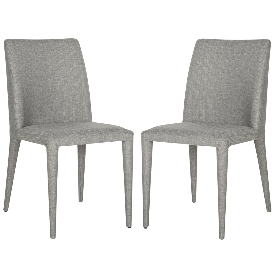 Safavieh Set of 2 Fox Linen Gray Side Chairs