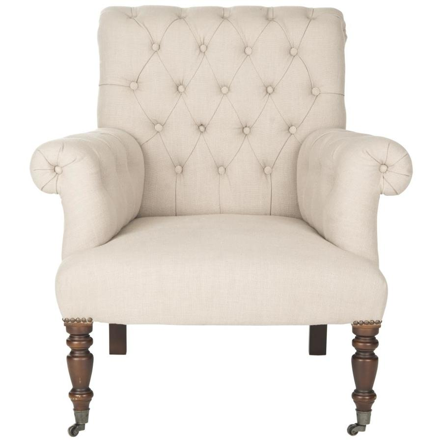 Safavieh Bennet Modern True Taupe Linen Accent Chair