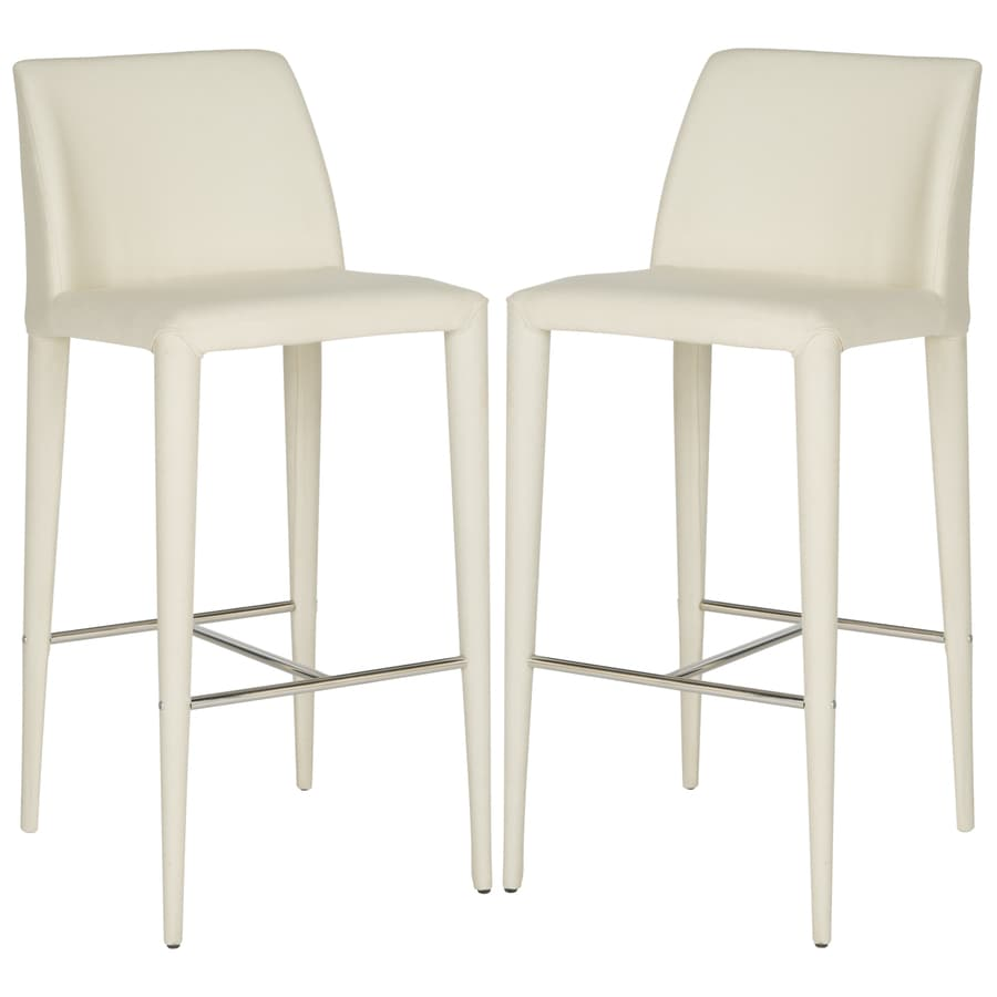 Safavieh Garretson Set of 2 Modern Linen Beige Bar Stool