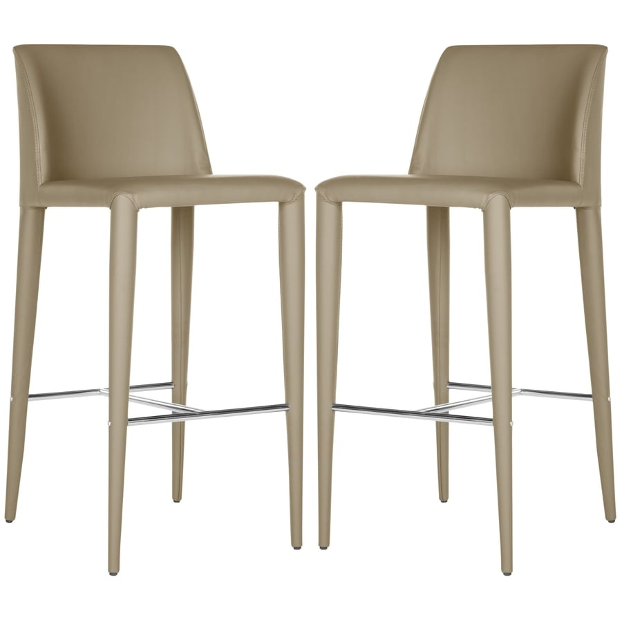Safavieh Set of 2 Fox Taupe 29.9-in Bar Stools (27-in to 35-in)
