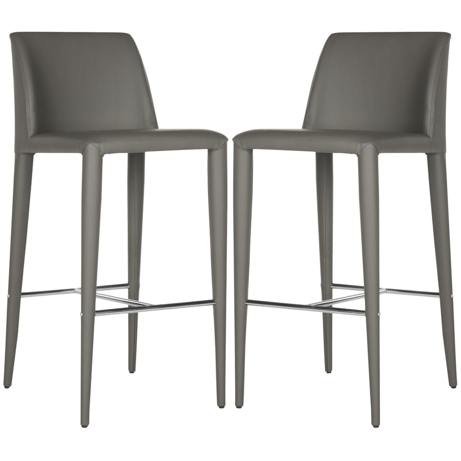 Shop Safavieh Set of 2 Fox Gray 299 in Bar Stools 27 in  : 683726697596 from www.lowes.com size 900 x 900 jpeg 150kB