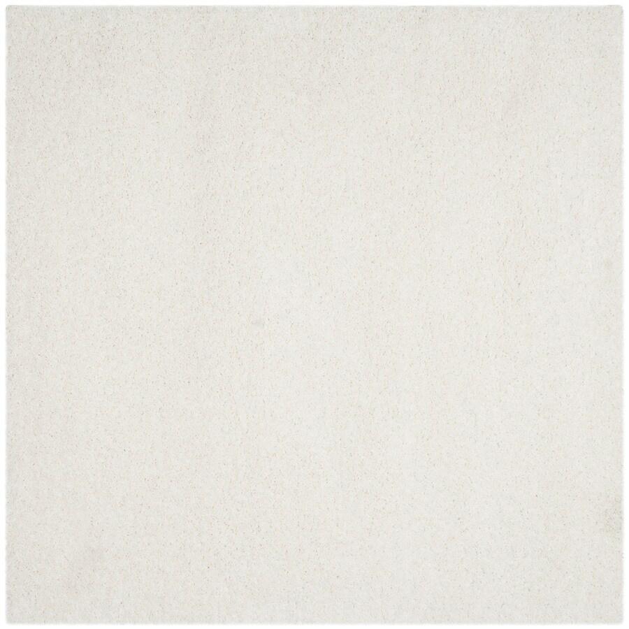 Safavieh California Shag White Square Indoor Area Rug (Common: 9 x 9; Actual: 8.5-ft W x 8.5-ft L)